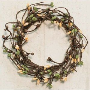 "Coffee Bean Pip Berry 6.5"" Mini Wreath Ring"